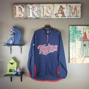 MAJESTIC AUTHENTIC JACKET TWINS 3/4 ZIP PULLOVER